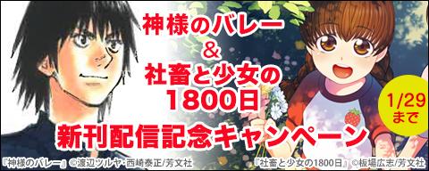神様のバレー&社畜と少女の1800日 新刊配信記念キャンペーン